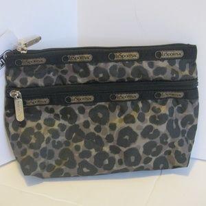 LeSportsac Cosmetic Clutch - Army Cheetah - NWT